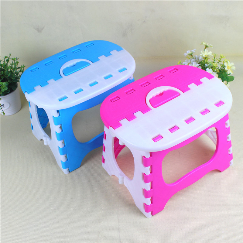 Super Load-bearing Gravity Children Folding Chair Portable Outdoor Child Camping Picnic Step Stool Plastic Foldable Chairs