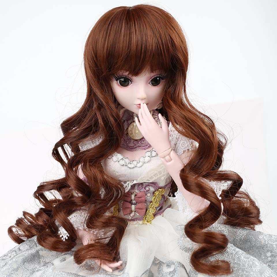 Cataleya longo em linha reta e encaracolado sd cabelo bjd peruca para bonecas frete grátis cabelo para boneca