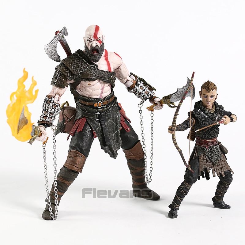 NECA God of War Kratos & Atreus Ultimate Action Figure Set Collectible PVC Model Toy