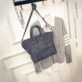 2016 New Fashion Smile Handbag Women Elegant Scrub Shoulder Bag Zipper Bag Lady Messenger Bag All-match Trapeze Tote