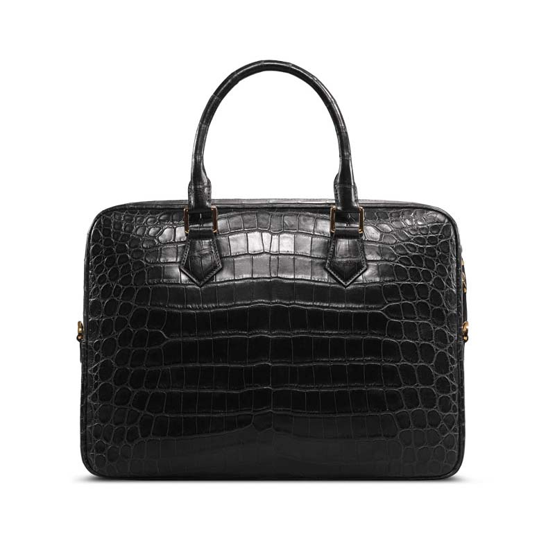 Cestbeau Nile  Crocodile Belly Man Bag Whole Leather Man  Bag Leather Business Computer Briefcase Male