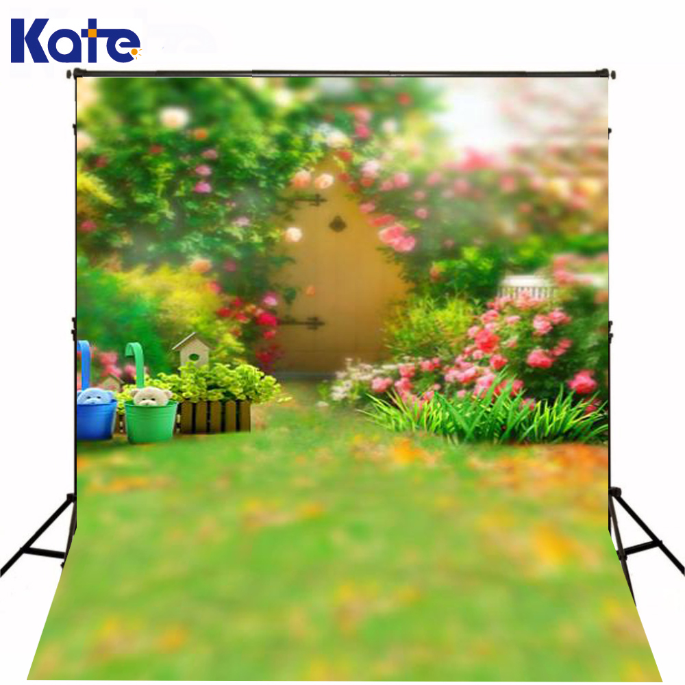 200Cm*150Cm Backgrounds Large Family Backyard Garden