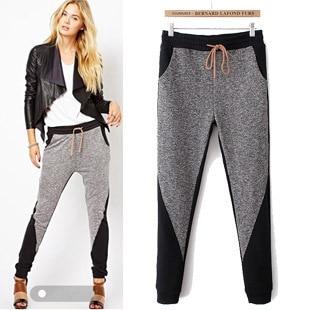 eb17069539d0f Nuevo 2016 moda otoño invierno pantalones mujer pantalones de harén pantalón  Casual de Hip Hop deportes