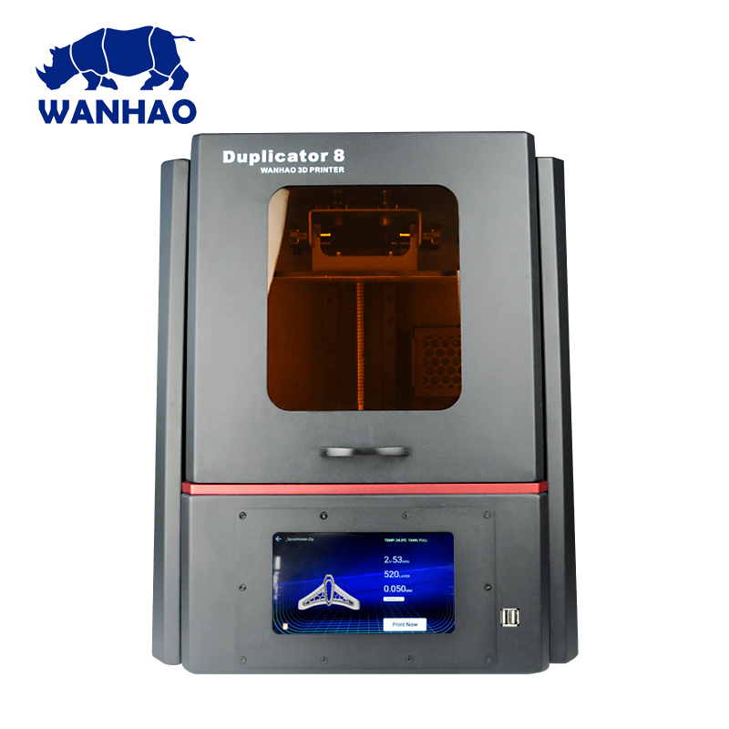 2018 newest WANHAO bigger D8 Resin Jewelry Dental 3D Printer, Personal desktop LCD 3d printer