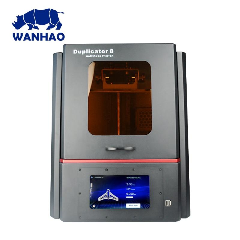 2019 el más nuevo WANHAO más grande D8 joyería de resina Dental 3D impresora escritorio Personal LCD 3d impresora