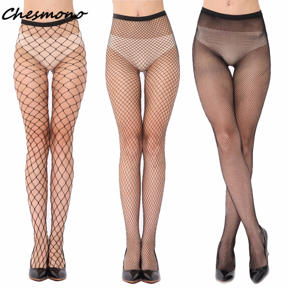Black Hollow Out Sexy Pantyhose Female High Waist Fishnet Stockings Club Party Tights Panty Knitting Net Trousers Mesh Lingerie