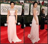 Luxury Beaded Women Dress Party Evening Elegant Scoop Neck Open Back Formal Dresses 2015 New Long