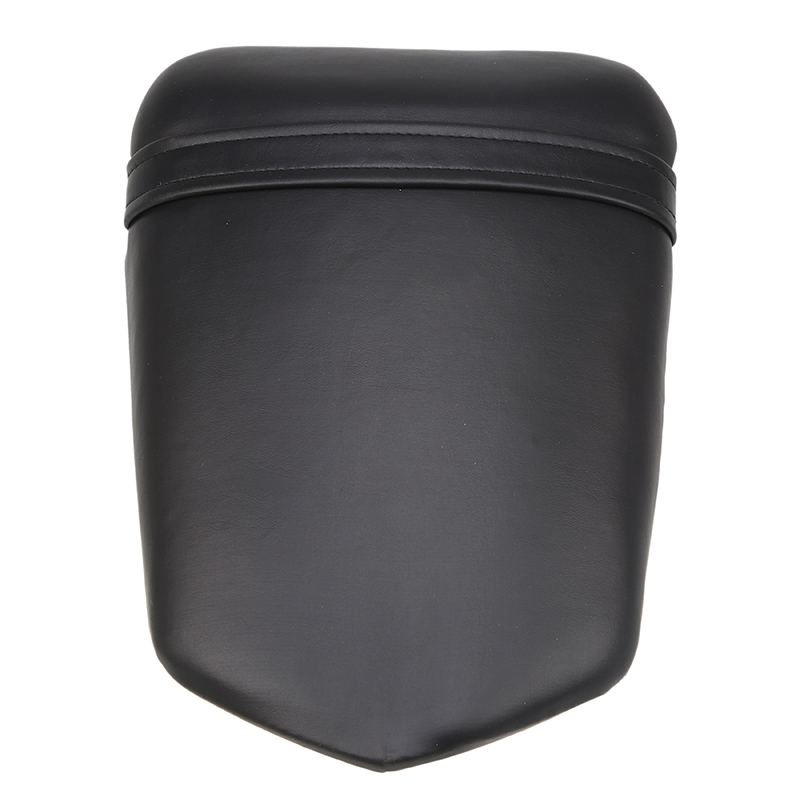 Black Leather Motorcycle Seat Cafe Racer Seat Rear Passenger Backrest Cushion Pad Seat Cover For Yamaha R1 R104 2004 2005 2006 motorcycle black universal leather passenger seat backrest pillion cushion pad for harley choppers touring cruiser honda c 5