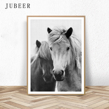 Scandinavian Style Horse Wall Art Print Photography Black and White Large Paintings On the Home Decor