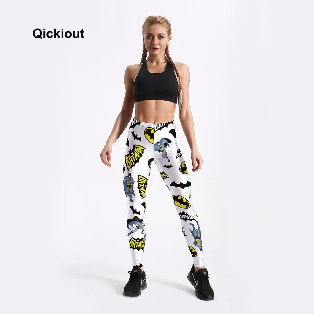 ALI shop ...  ... 32851536587 ... 2 ... Qickitout Hot Sale Digital Batman prints Leggings For Women New 2018 Fashion Slim Cartoon Printed Elastic Pants Trousers ...