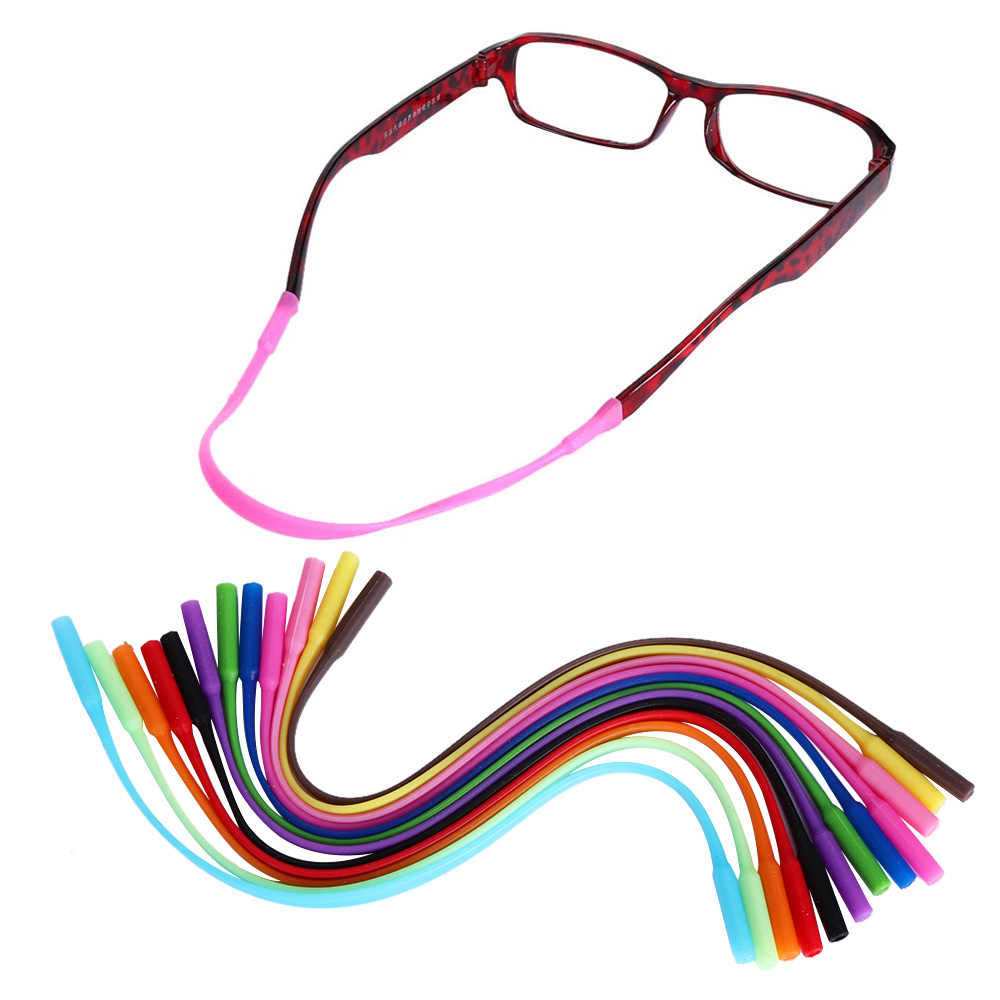 1/2PCS Adjustable Silicone Glasses Sunglasses chain Eyeglasses Straps Sports Band Cord Holder Elastic Anti Slip String Ropes Hot