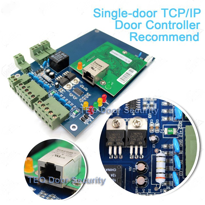 Single door access control board via TCP/IP Web based 20000 Users Wiegand Controller Highest Quality Web Access Control