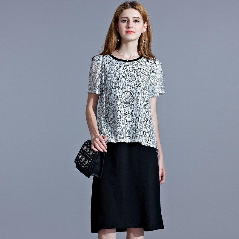 2017 jaro léto nové volné duté ven s krátkým rukávem mini krajky Šaty pro Party Elegantní ženy Pink A Line šaty
