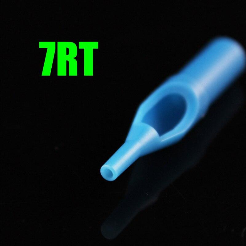 OPHIR 50 шт./лот круглый наконечник татуировки одноразовая насадка наконечник 7RT Blue_TA031(7R)-50x