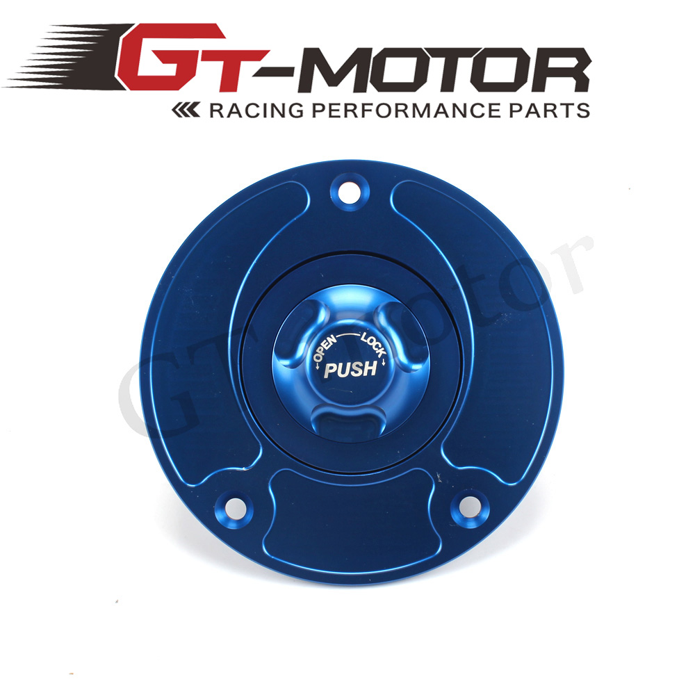 GT Motor - Motorcycle New CNC Aluminum Fuel Gas CAPS Tank Cap tanks Cover With Rapid Locking For SUZUKI GSX1300R HAYABUSA motorcycle aluminum keyless fuel gas tank cap for most of suzuki bike motorcycle silver motor accessories