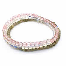 3PCS/Set Bracelet 4 mm Nature Stone Beads Men Girls Bracelets 18 cm/pcs Cherry Quartzs Opal Labradonite