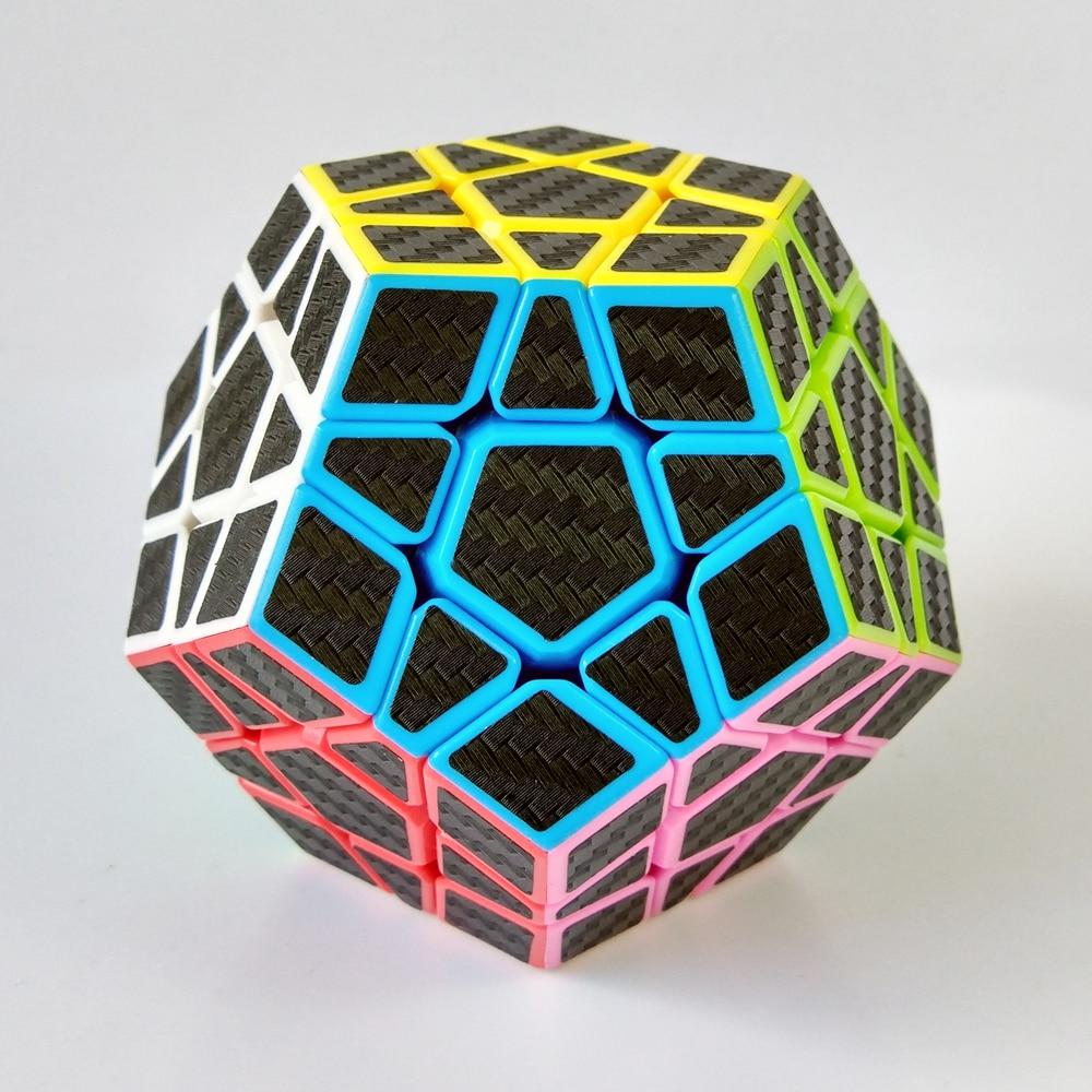 Zcube 3x3x3 Cub Speed Magic Cubes Joc Puzzle Jucarii pentru Copii Copii - Carbon Fiber Sticker