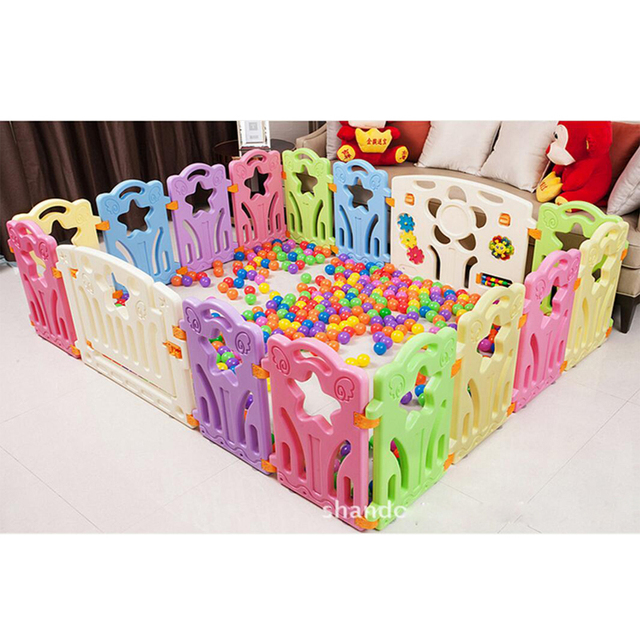 Baby Playpens Children Garden Fence Plastic Kids Activity Gear  Environmental Protection PE Safety Play Yard Indoor