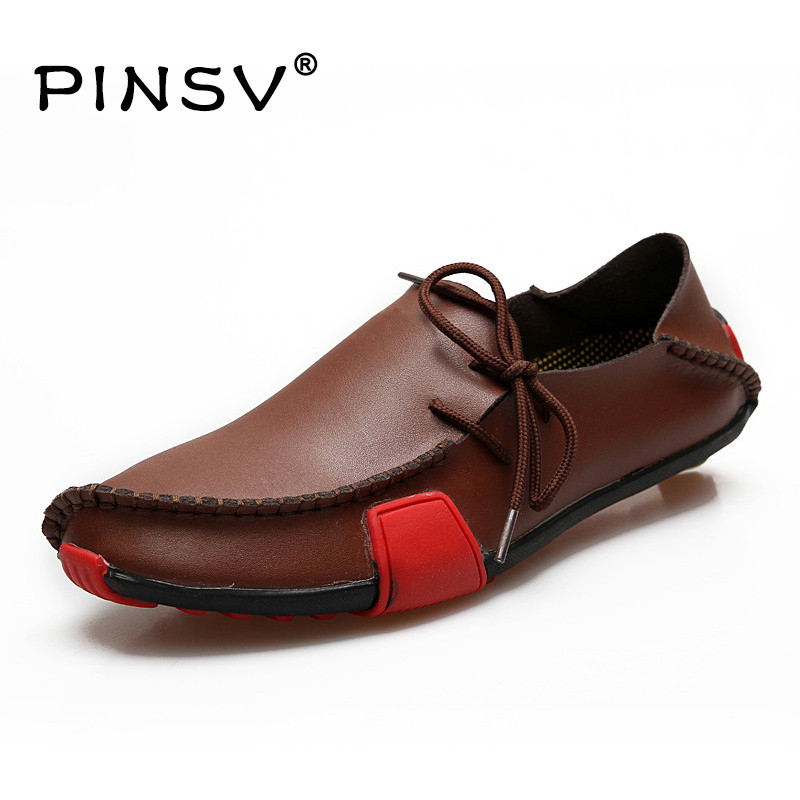 Big Size 47 Leather Shoes Men Shoes Casual Slip On Flats Shoes Men Loafers Moccasins Men Zapatos Hombre 5 Colours цена 2017
