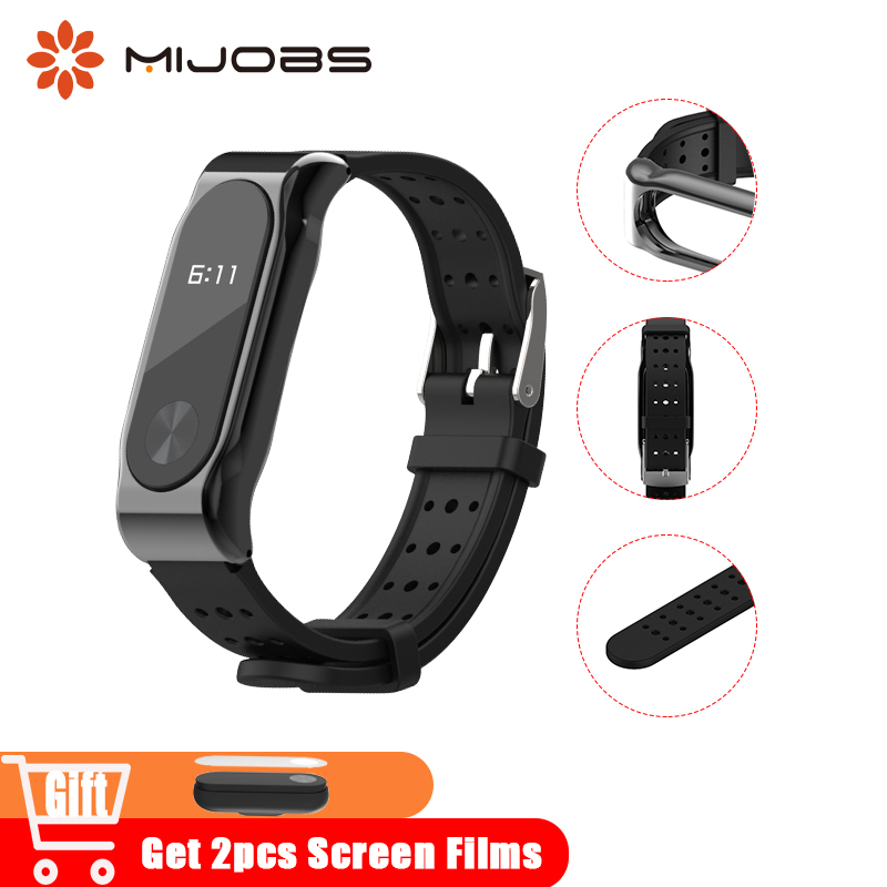 Mijobs Miband 2 TPU Wrist Strap Bracelet for Xiaomi Mi Band 2 Smart Watch Accessories Silicone Camouflage Original Mi2 Wristband tpu band with white round dot for xiaomi miband 1s