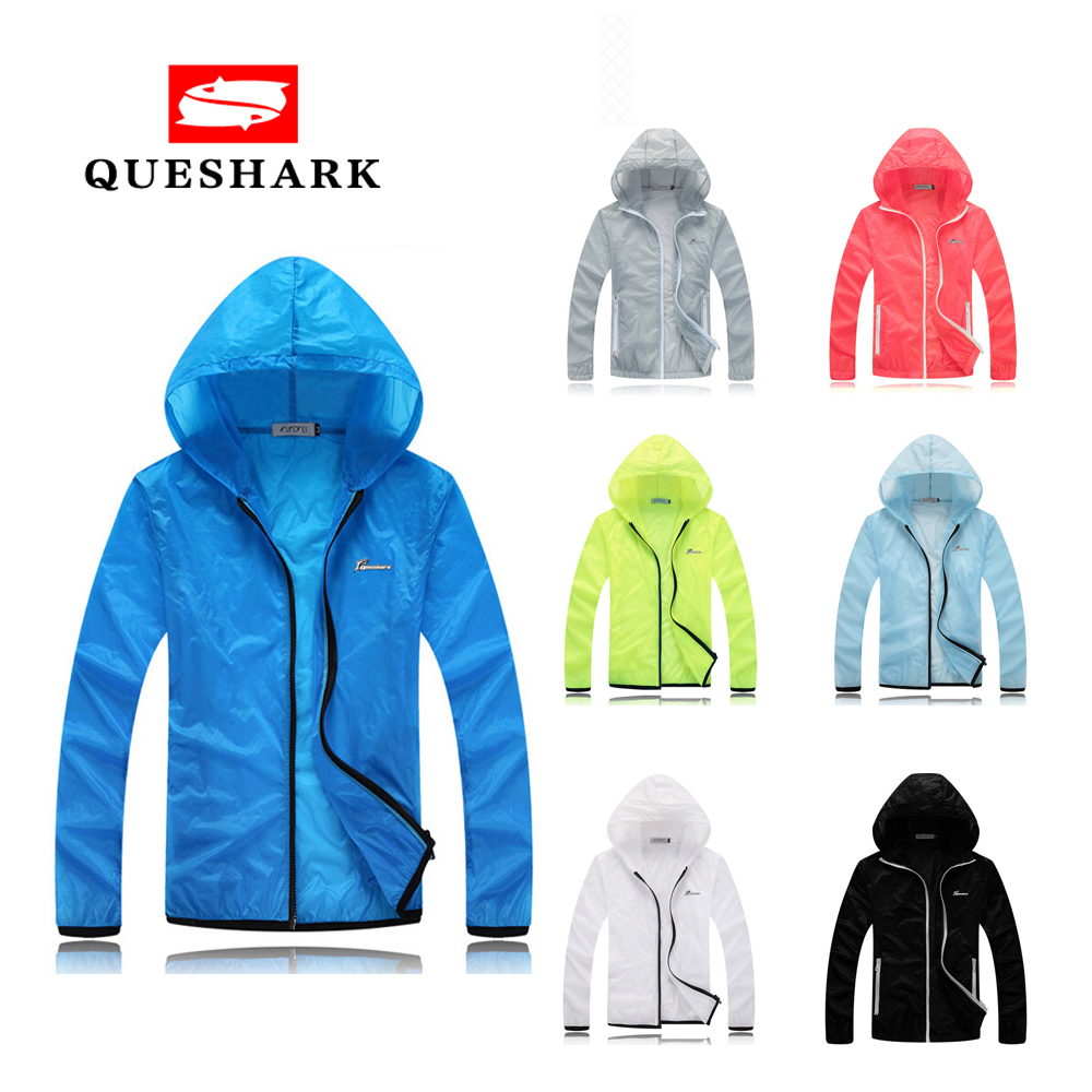 Queshark Professional Ultra-thin Men Women Quick Dry Skin Cycling Jacket Outdoor Jersey Running Hiking Fishing Windbreaker