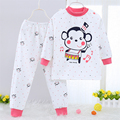 Children's clothes pajama sets boy pyjamas kids pajamas set kids baby girl Combed cotton children color home clothing 20#