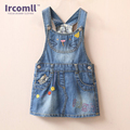 Girls Jeans Skirt Girl Suspender Casual A-line Cute Hello Kitty Girls Denims Suspender Overalls Girl 2-8Years Denim Clothes