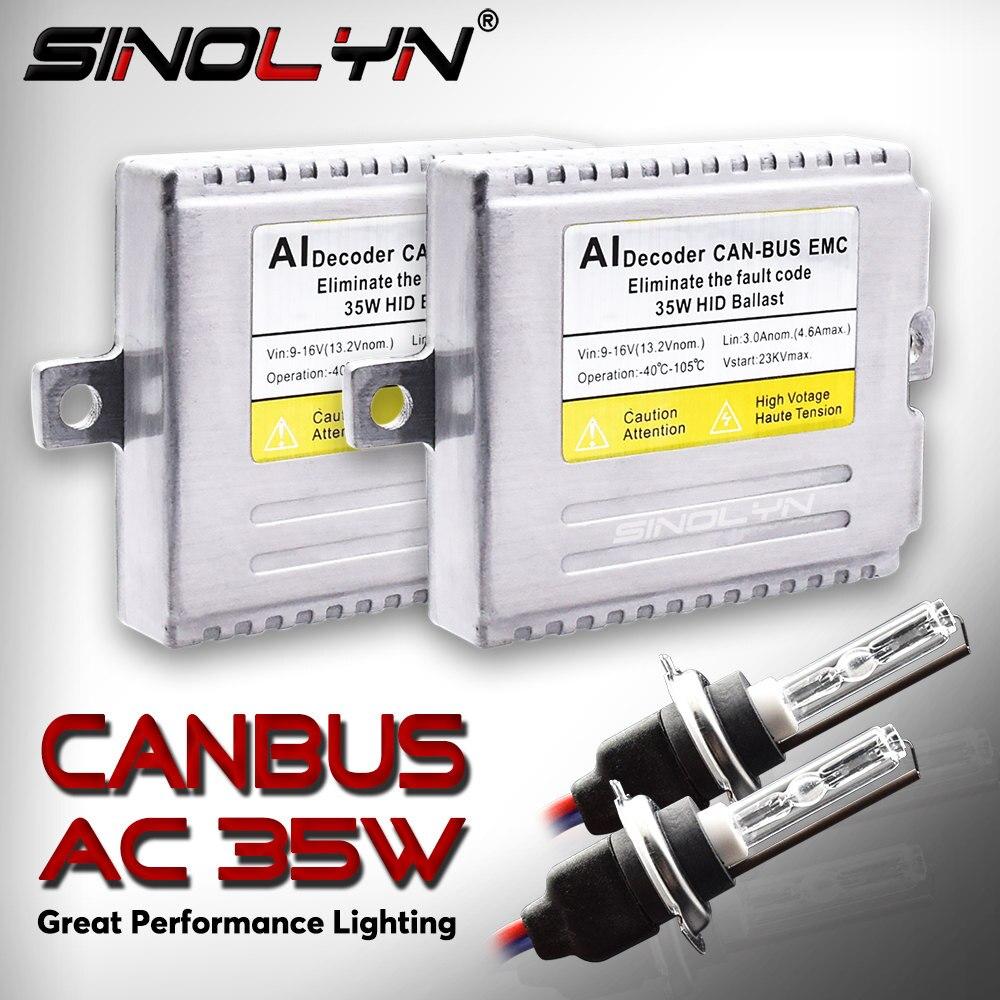 Canbus sans erreur AC HID Kit de Conversion xénon EMC Ballast phares antibrouillard H1 H3 H7 9005 HB3 9006 HB4 D2S HB4 H11 D2H