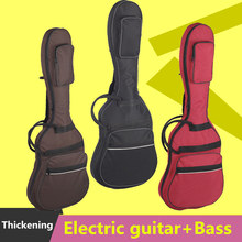 Waterproof Thicken 11.5 mm Electric Guitar Bass Bag Case Backpack Guitarra Accessories Parts Carry Gig Colorful Cloth