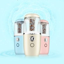 Mini Portable Humidifier Car Aroma Diffuser, Ultrasonic Humidifier Air Diffusers With Negative Ions Particles Rechargeable Use