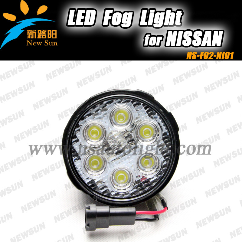 16W high power OEM Style LED Fog Lights Assembly for NISSAN TIIDA, X- TRAIL Super bright Auto fog lamp daytime running drl light pair of stylish rhinestoned star shape earrings for women