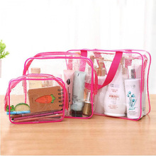 3pcs/set Transparent PVC Bags Make Up Pouch Wash Bags Travel Organizer Clear Makeup Bag Cosmetic Bag Beauty Case Toiletry Bag 3 pcs set travel cosmetic bag transparent pvc women zipper clear makeup beauty case make up organizer large capacity wash bag