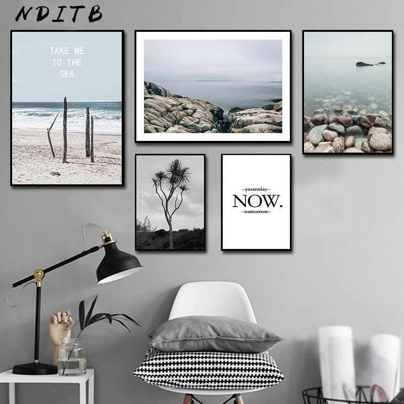 Scandinavian Landscape Canvas Wall Art Poster Nordic Style Nature Print Painting Minimalist Decorative Picture Room Decor