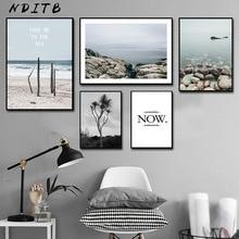 Scandinavian Landscape Canvas Wall Art Poster Nordic Style Nature Print Painting Minimalist Decorative Picture Room Decor