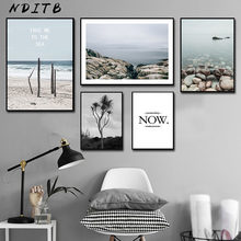 Scandinavian Landscape Canvas Wall Art Poster Nordic Style Nature Print Painting Minimalist Decorative Picture Room Decor(China)