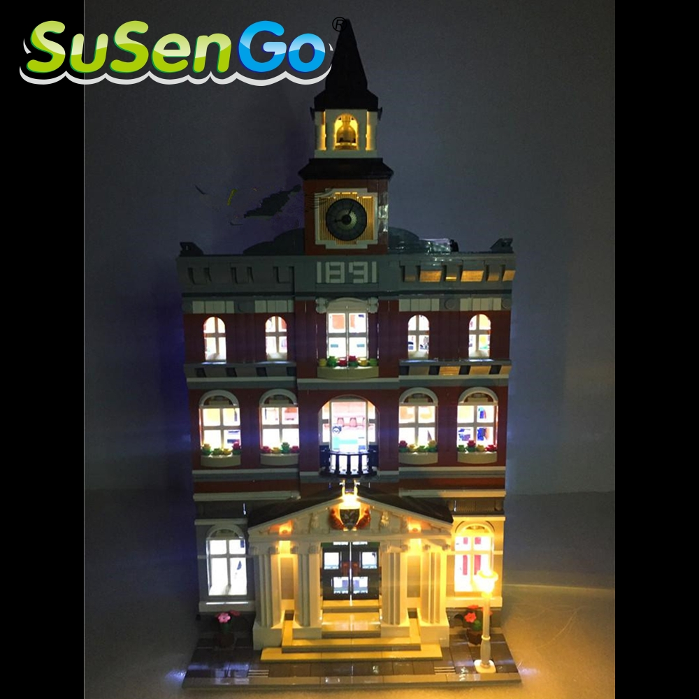 ФОТО LED Light Up kit For Creators The town hall Model Building Kits Blocks Lepin 15003 Compatible with Lego 10224 Kids DIY Lihgt Toy