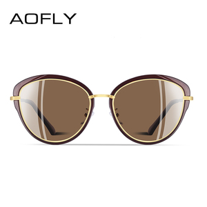 Image 3 - Aofly óculos de sol feminino polarizado, óculos de sol estilo olho de gato, vintage, polarizado, moda feminina uv400 a107 2020