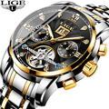 2019 Бизнес Мужские часы, наручные часы Элитный бренд Топ LIGE Tourbillon Спорт механические часы для мужчин модные автоматические часы Reloj Hombre
