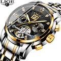 2019 бизнес часы мужские часы люксовый бренд Топ LIGE Tourbillon спортивные механические часы мужские модные автоматические часы Reloj Hombre