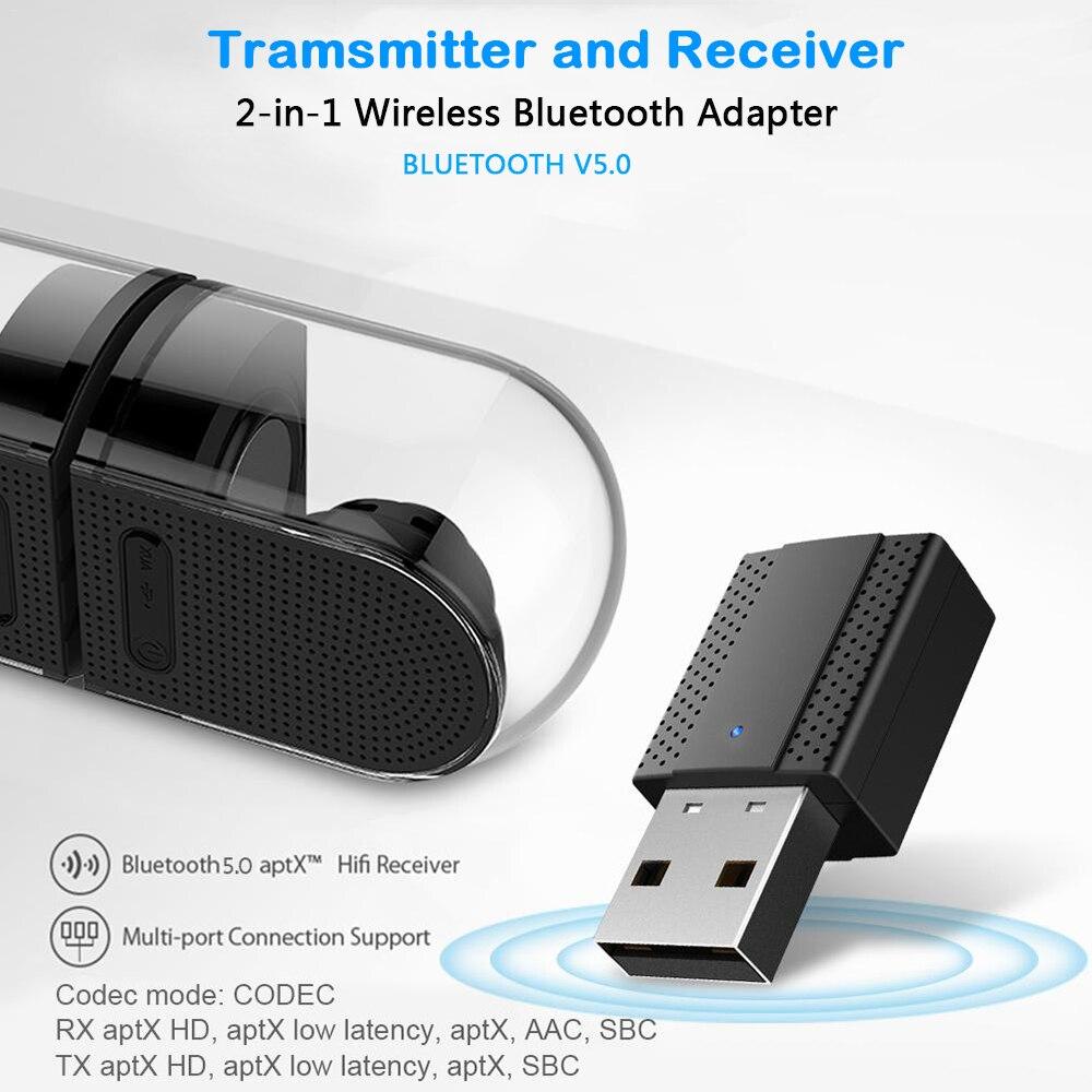 2019 Neue 2 In 1 Usb Bluetooth 5,0 Sender Empfänger Tragbare 3,5mm Aux Audio Wireless Adapter Für Tv Pc Bluetooth Empfänger üBereinstimmung In Farbe