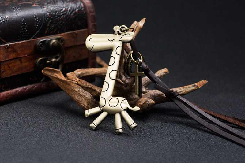 WLP men necklaces High Quality Fashion Long Necklace Leather Sweater Chain Robot For Women Men Pendant Necklace Jewelry