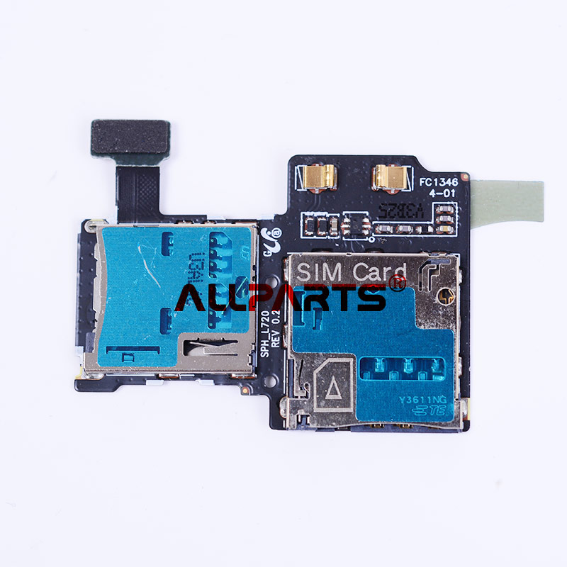 Original SD SIM Card Reader Flex Cable For Samsung Galaxy S4 I9500 I9505 Micro SD SIM Card Tray Slot Holder Reader Flex Cable