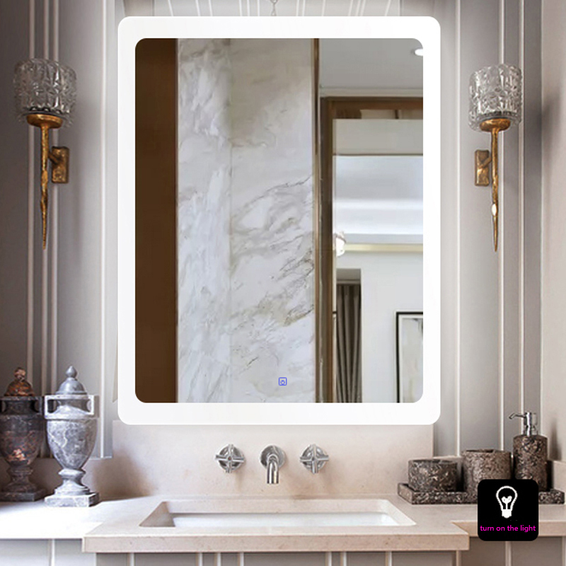 Wall Hanging Led Bathroom Mirror Wall Lamp Intelligent AntiFog Toilet Mirror Lamp Fitting Room Bathroom Makeup Mirror Wall Light