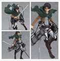 Anime Attack on Titan Levi Ackerman Figma 213  mankind's strongest soldier  PVC Action Figure Collection Model Toy 2 Face