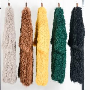 Image 3 - Harppihop  knitted Mongolian sheep fur coat jacket overcoat Russian women winter warm fur coat outwear longer style  4 colors