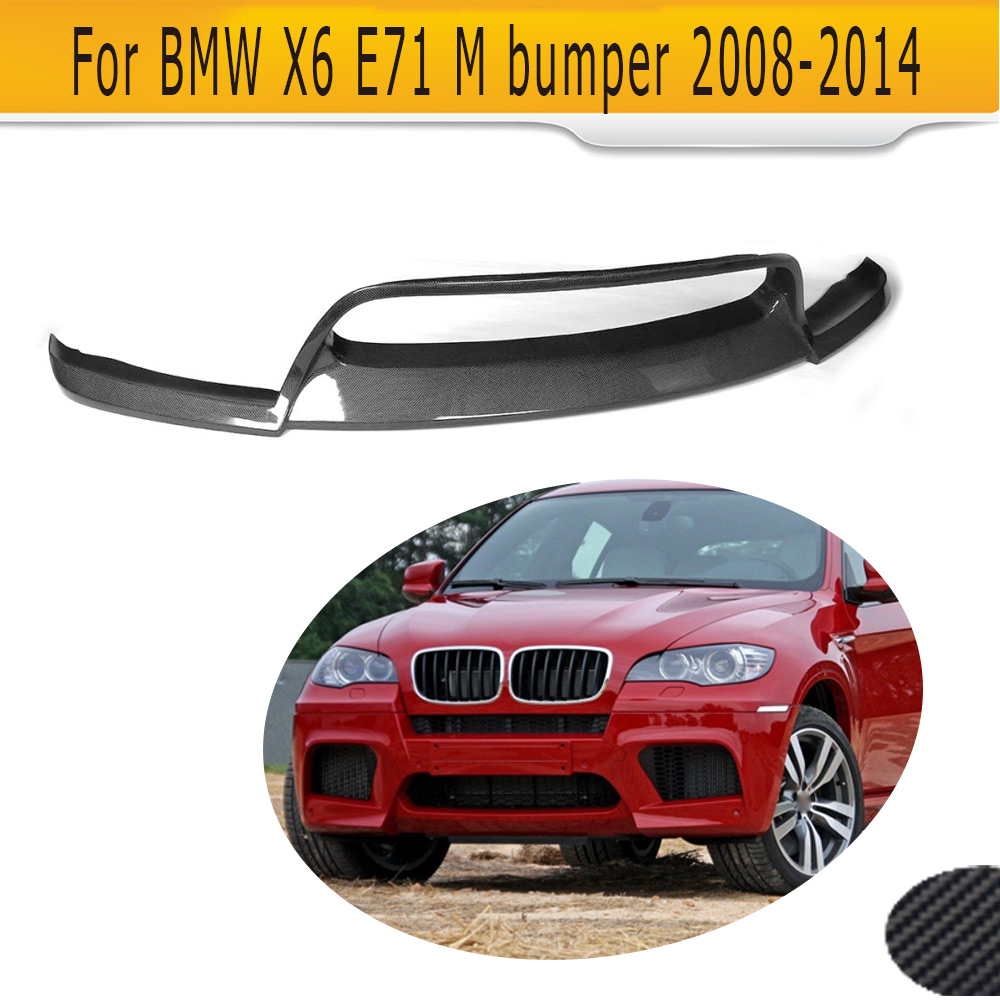 Carbon Fiber Car Front Bumper Lip Spoiler For BMW E71 E72