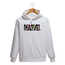 2019 New Fashion Hoodies MARVEL Hip Hop Mens Brand Letter printing Hooded pullover hoodies Sweatshirt Slim marvel Men Hoodie