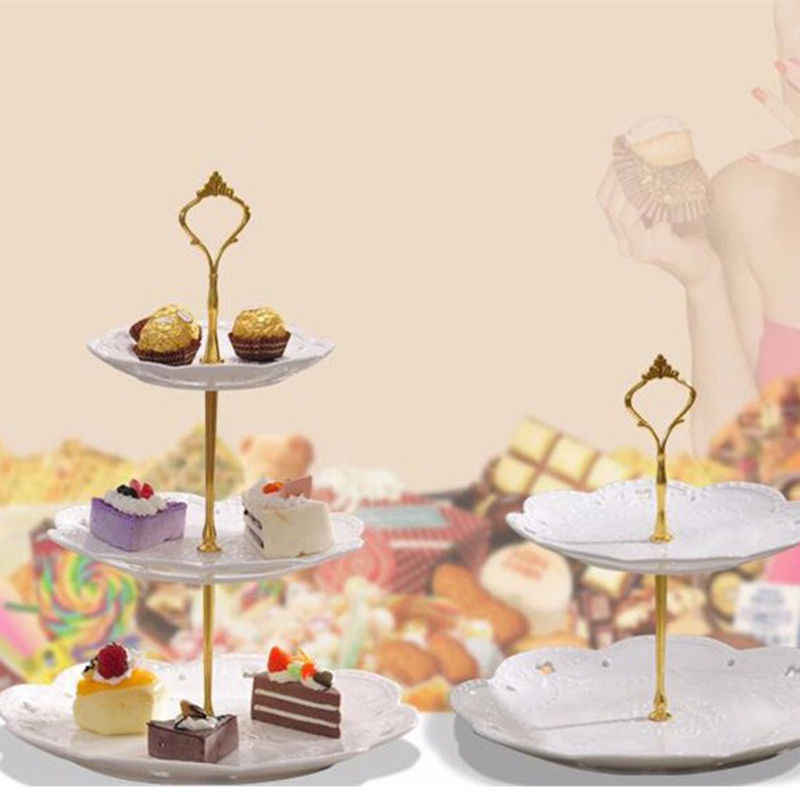 Tremendous 1 Set 2 Or 3 Tier Crown Wedding Party Birthday Cake Plate Stand Funny Birthday Cards Online Elaedamsfinfo