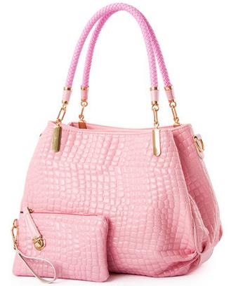 ФОТО Japanned leather for Crocodile women's handbag patent leather women's bags soft handbag one shoulder big bags