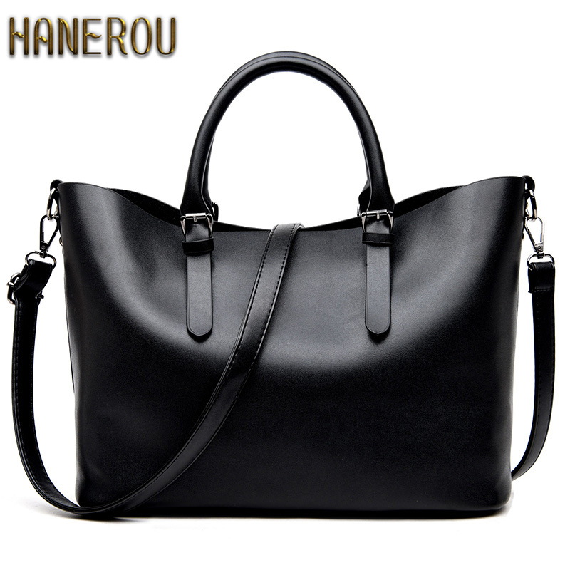 Bolso Mujer Negro 2016 Fashion Hobos Women Bag Ladies Brand Leather Handbags Spring Casual <font><b>Tote</b></font> Bag Big Shoulder Bags For Woman